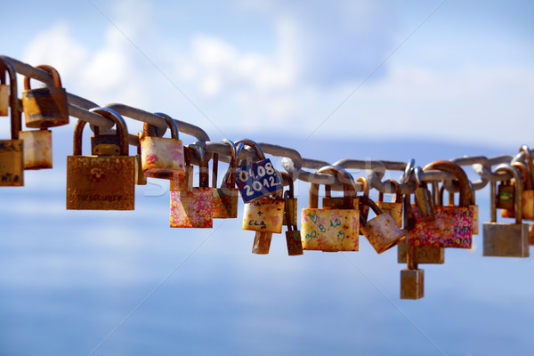 Locks left by lovers Stock photo © mikdam