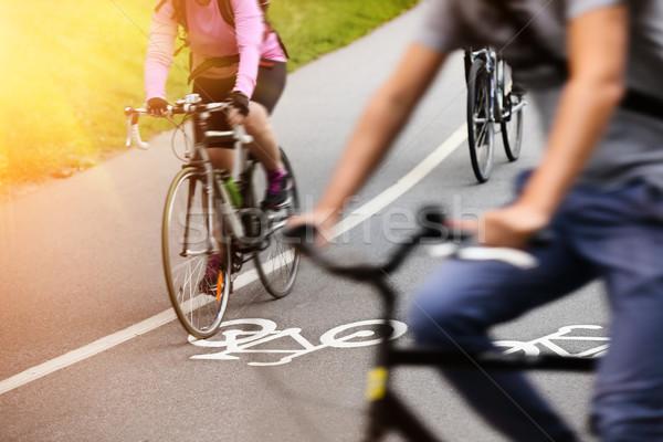 Bike lane Stock photo © mikdam