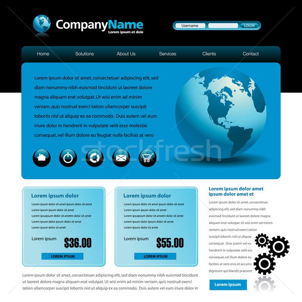 Vector web site design template Stock photo © mike301