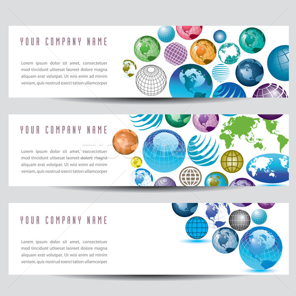 Vector Globe Banners Stock photo © mike301