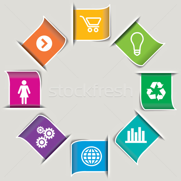 8 Modern Infographic icons Stock photo © mike301