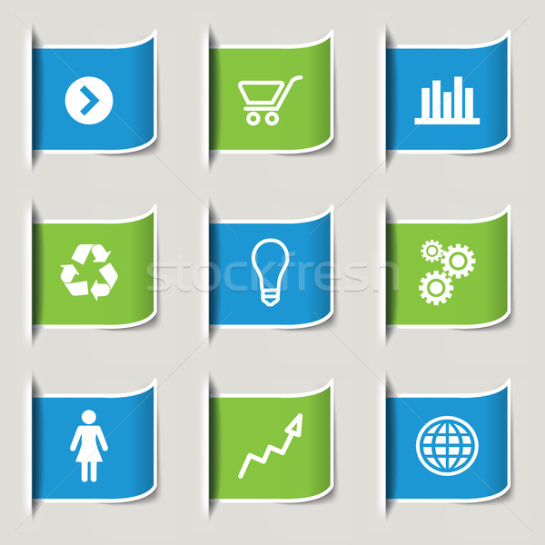 Nine Modern Infographics icon Banners Stock photo © mike301