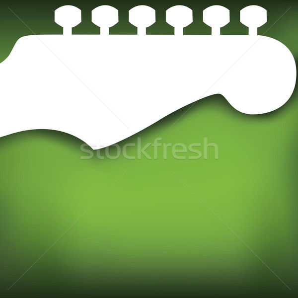 Green Guitar Vector Background Stock photo © mike301