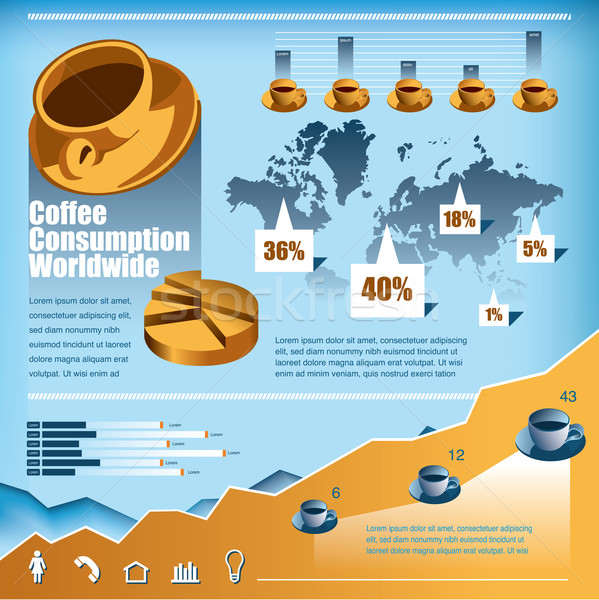 Coffee infographics Vector Set Stock photo © mike301