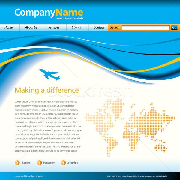 Vektor weboldal design sablon színes stílusos előkelő Stock fotó © mike301