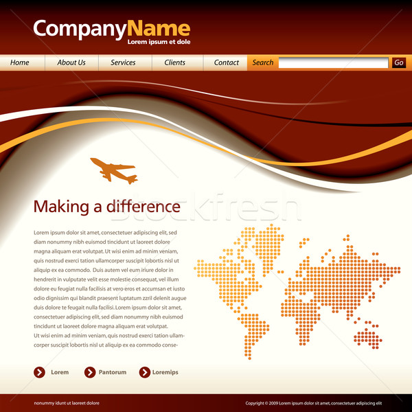 Stock photo: Vector web site design template