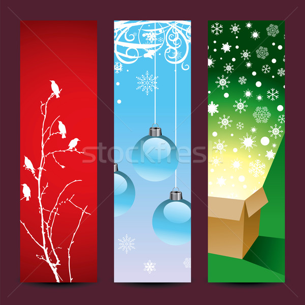 Christmas vertical backgrounds Stock photo © mike301