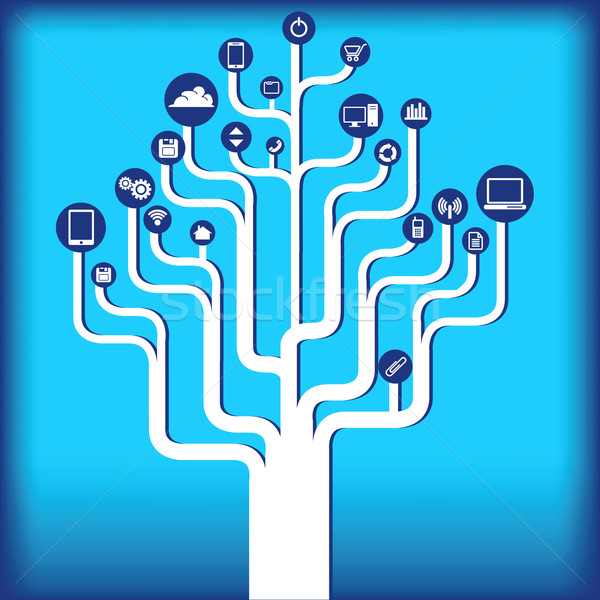 Technology tree background  Stock photo © mike301