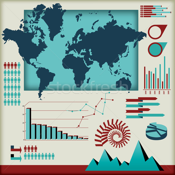 set of infographics elements Stock photo © mike301