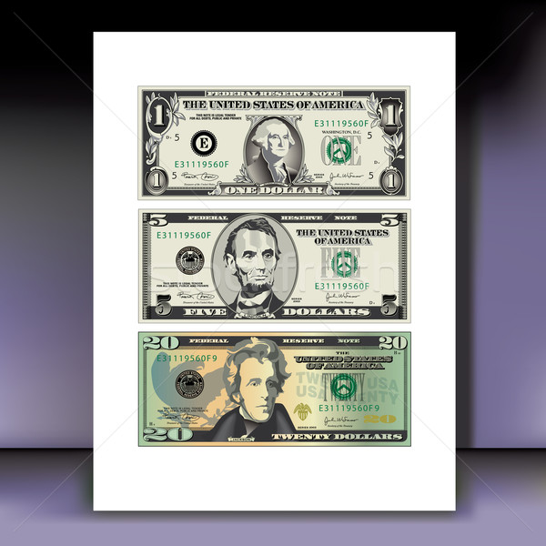 detailed, Stylized Vector Drawings of Bills Stock photo © mike301