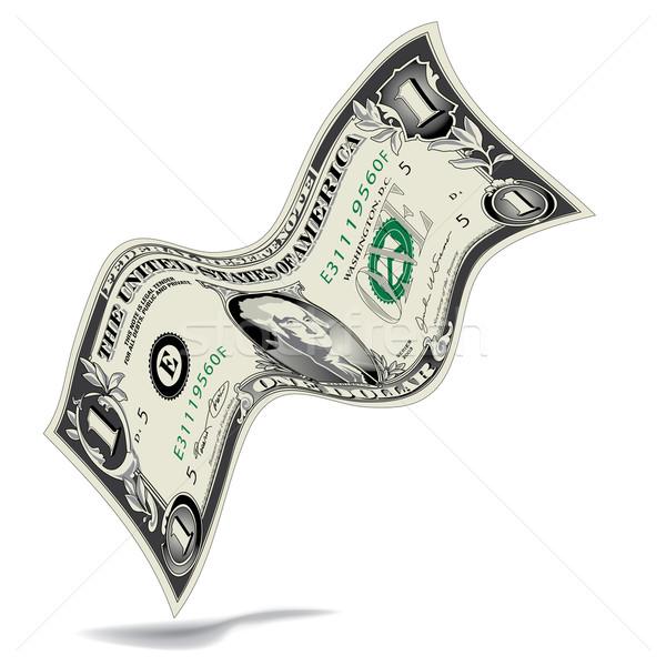 Tánc dollár számla űr szöveg pénz Stock fotó © mike301