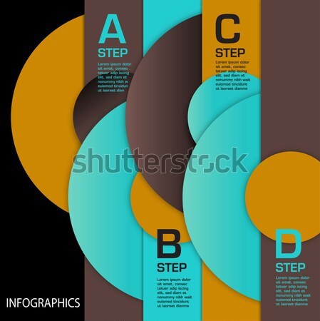Infographics Template using Circles  Stock photo © mike301