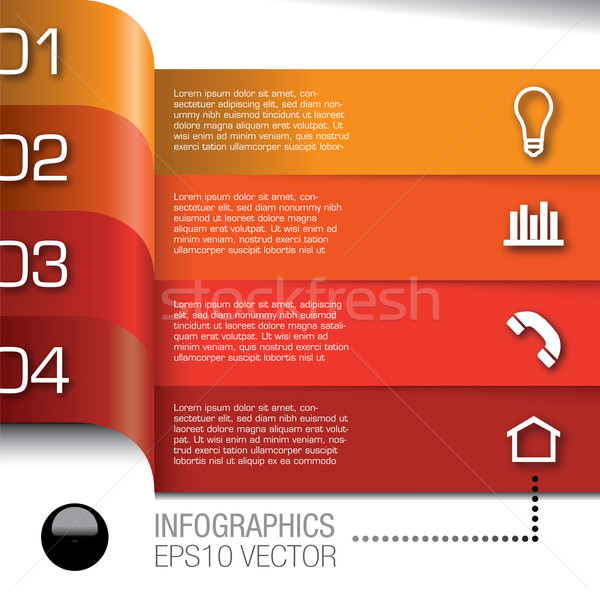 Modern Design template for infographics Stock photo © mike301