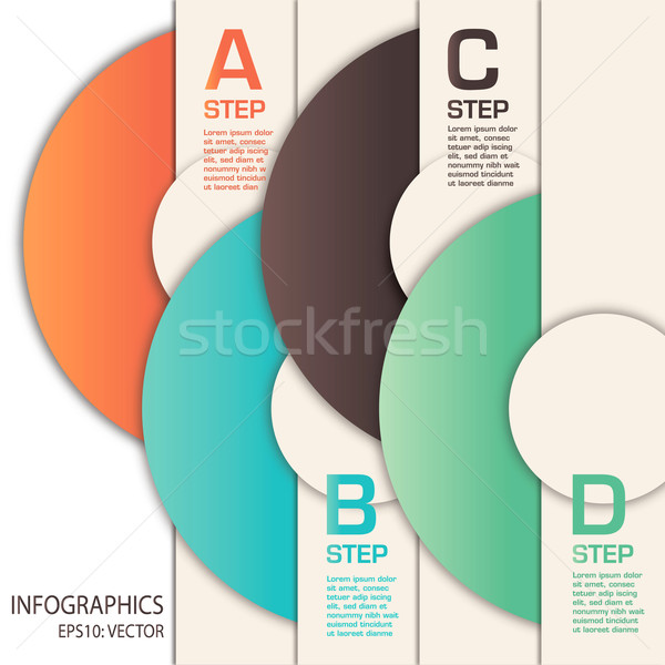 Vector infographics design Stock photo © mike301