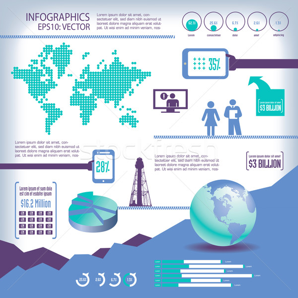 Global, business, info-graphics Stock photo © mike301