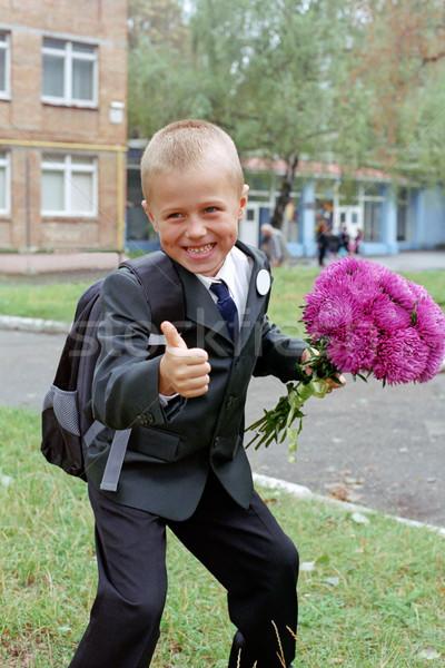 smiling schoolboy Stock photo © mike_kiev