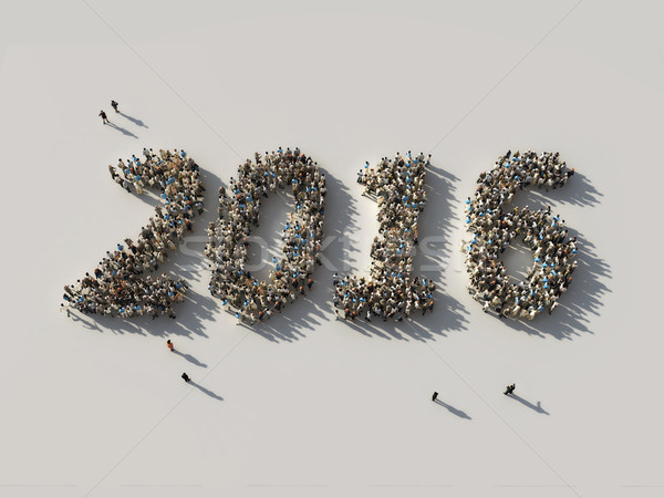Stock photo: crowd as the 2016 figures