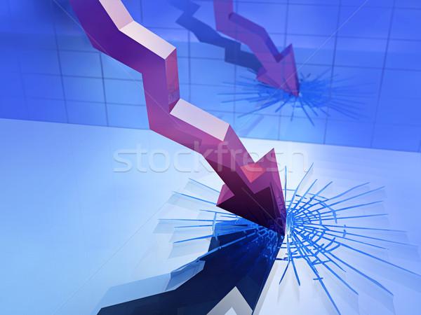 falling graph  Stock photo © mike_kiev