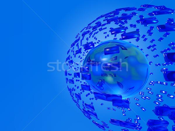 Globális kommunikáció földgömb absztrakt technológia háttér űr Stock fotó © mike_kiev