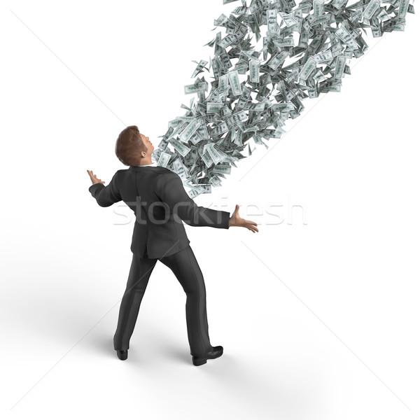Stock fotó: üzletember · pénzkeresés · üzlet · papír · pénzügy · bank