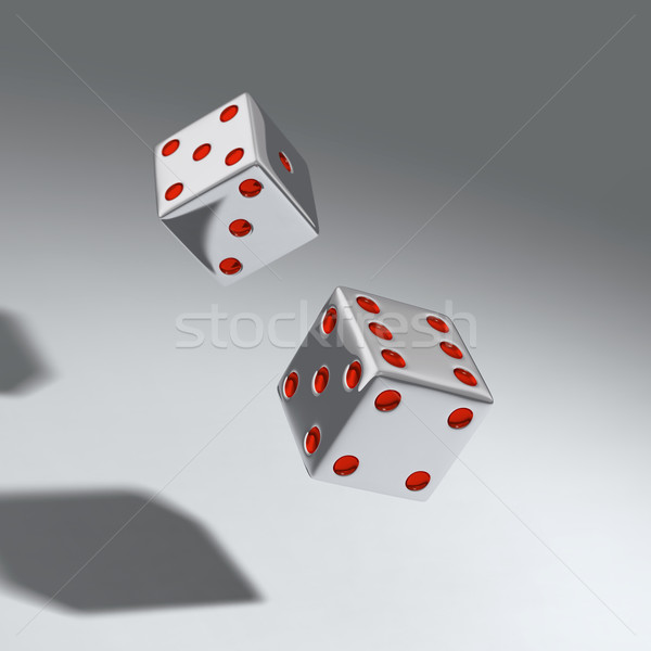 two throwing dice  Stock photo © mike_kiev