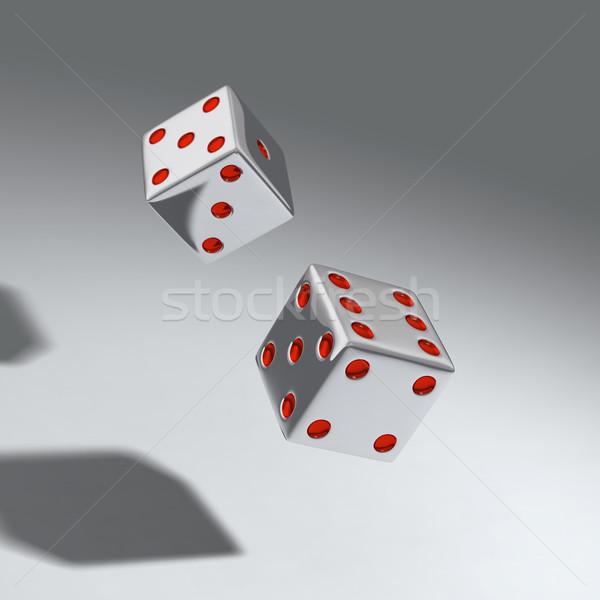 Dois dados cubo jogos de azar jogar Foto stock © mike_kiev