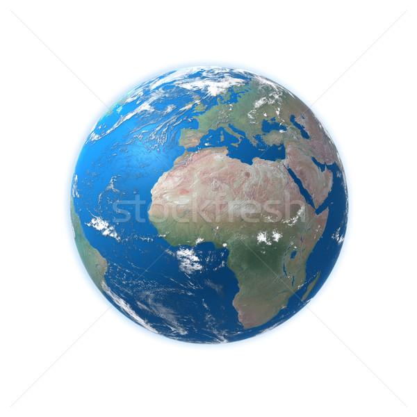 Magas részletes földgömb térkép Európa Afrika Stock fotó © mike_kiev