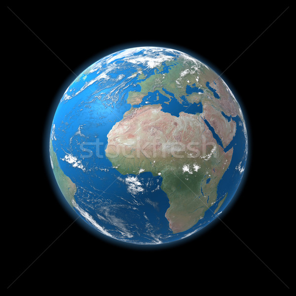 high detailed globe map, europe, africa  Stock photo © mike_kiev