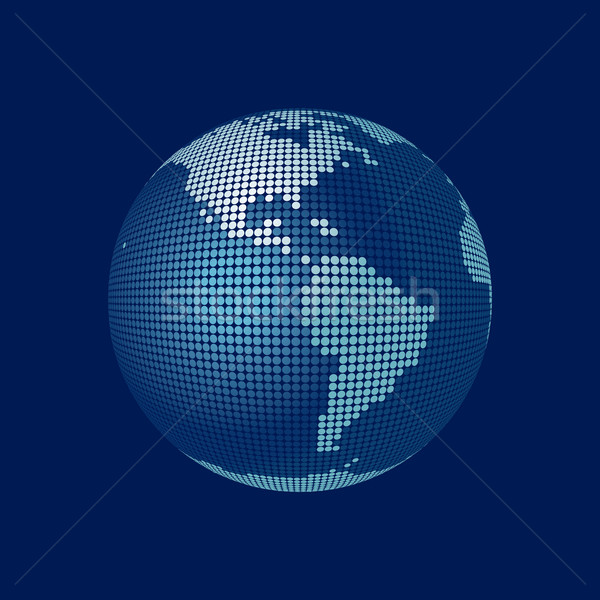 stylized 3D vector globe,  Stock photo © mike_kiev
