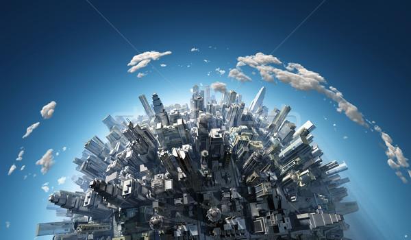 Megalópole negócio casa globo cidade Foto stock © mike_kiev