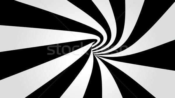 Túnel abstrato tecnologia preto arame tubo Foto stock © mike_kiev