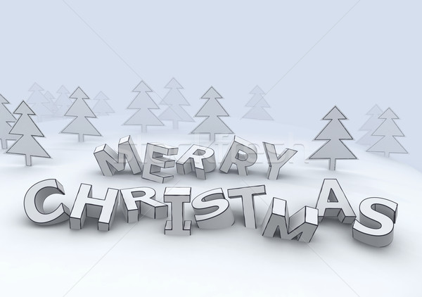 marry christmas 3d letters Stock photo © mike_kiev