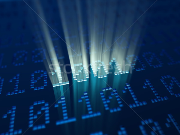 Stock photo: magic binary code