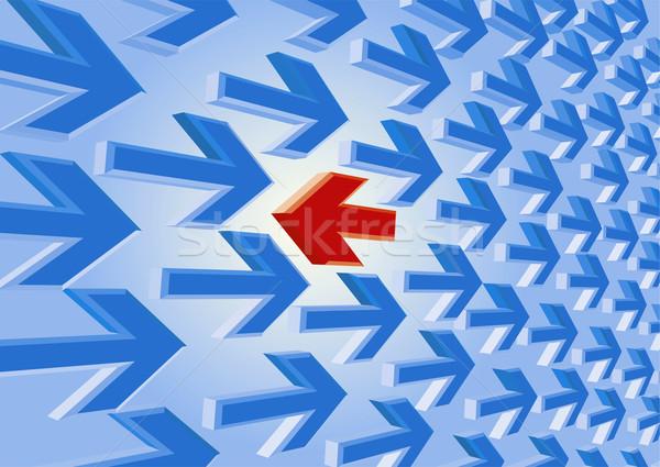 красный стрелка текущий компьютер свет искусства Сток-фото © mike_kiev