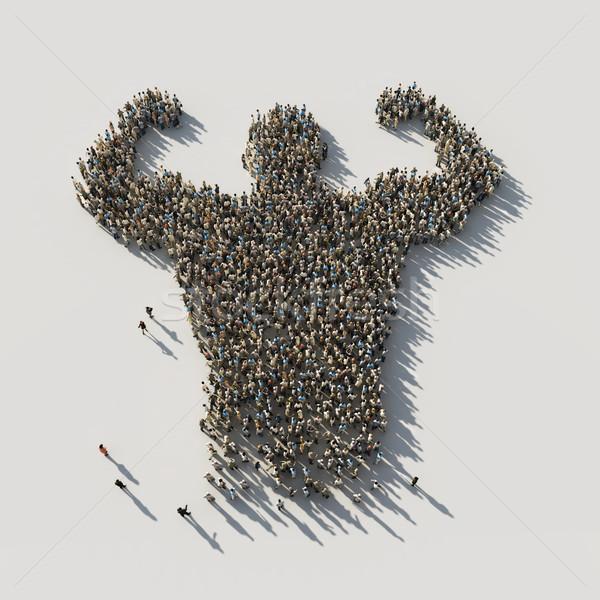 電源 男 群集 会議 ストックフォト © mike_kiev