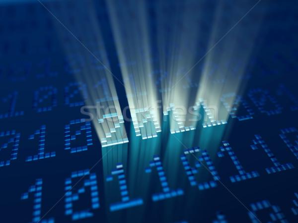 Kod binarny 2011 nowy rok świetle technologii tle Zdjęcia stock © mike_kiev