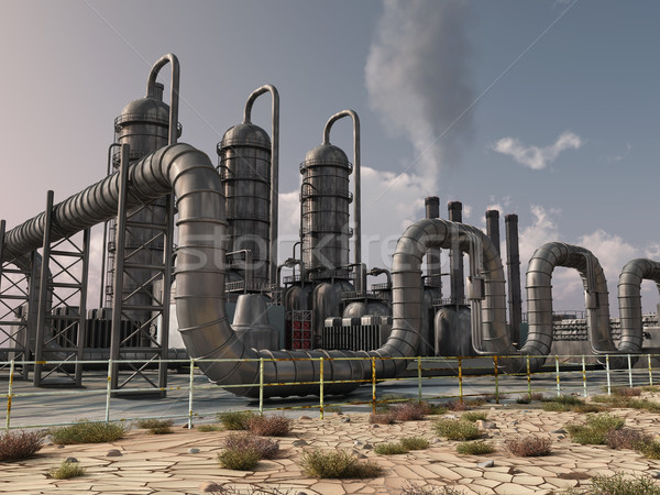 Stock photo: chemical plant