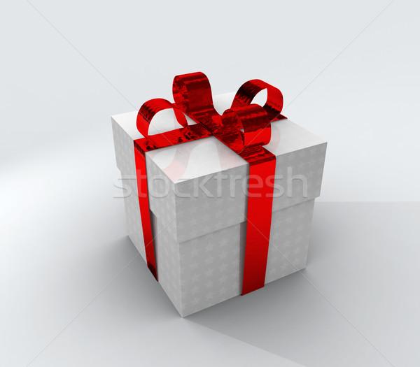 Hediyeler kutu kâğıt doğum günü kırmızı hediye Stok fotoğraf © mike_kiev