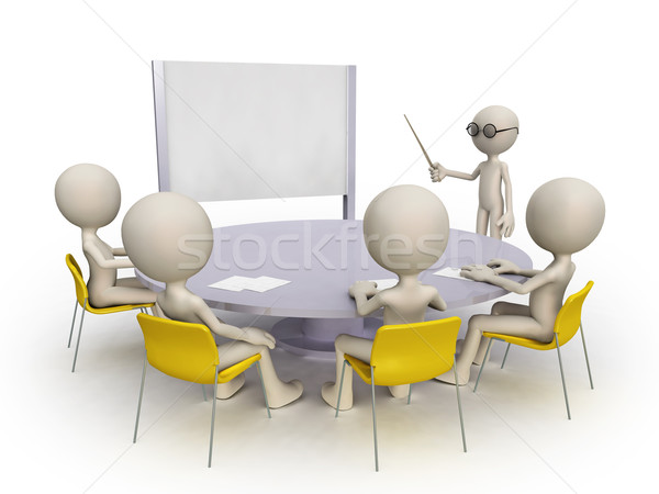 Stock photo: teacher and student group
