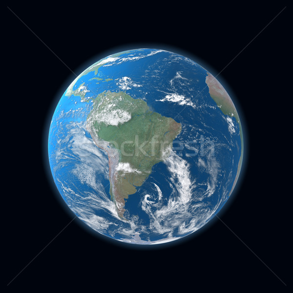 high detailed globe map, South and Central America  Stock photo © mike_kiev
