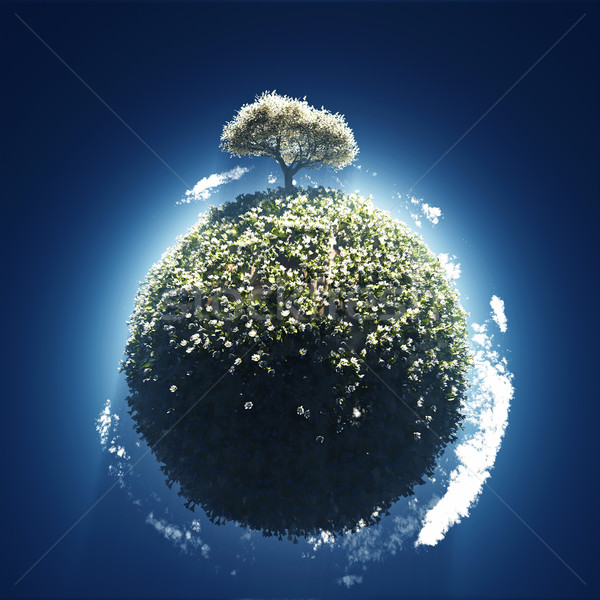 Stock photo: spring on small planet