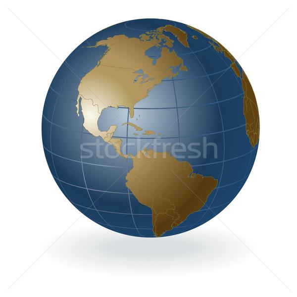 Map Of America 3d Vector.3d Vector Globe America Vector Illustration C Mike Kiev 300871