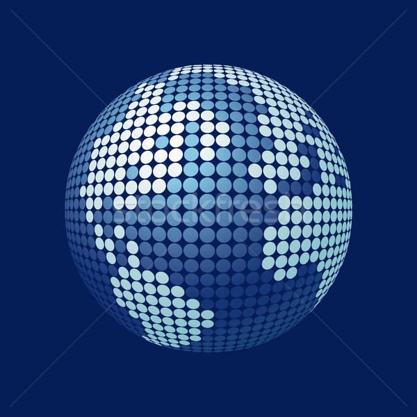 stylized 3D vector globe  Stock photo © mike_kiev