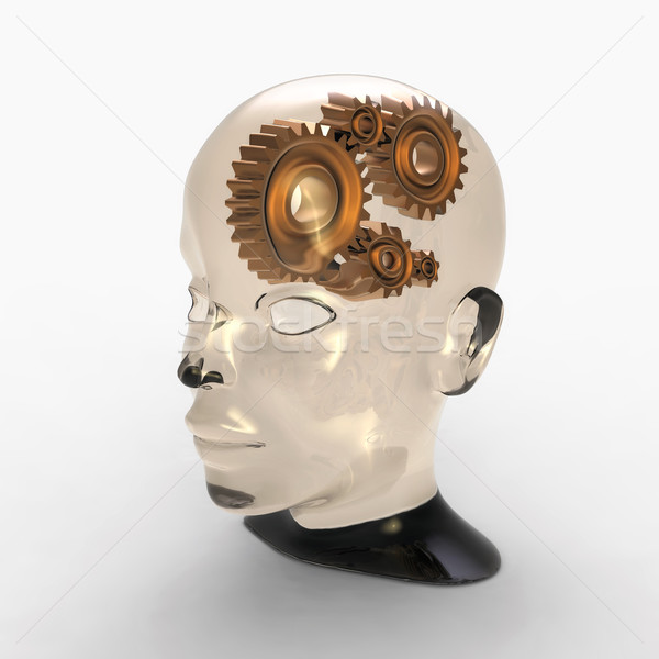 Stock photo: gear brain