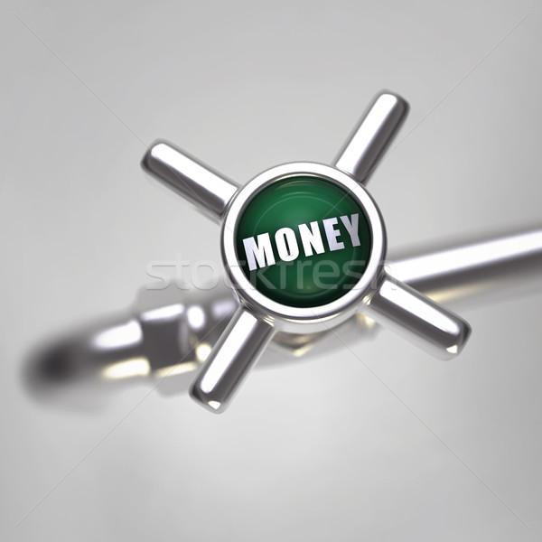 деньги водопроводной воды металл Финансы экономики Сток-фото © mike_kiev