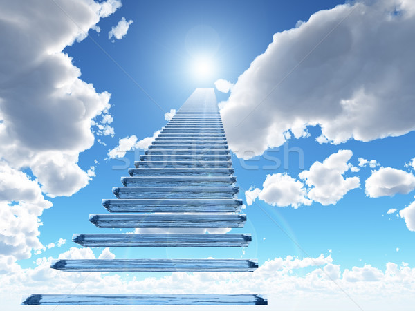 Stock photo: staircase to heaven