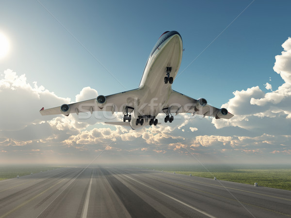 Stock photo: airplane taking off