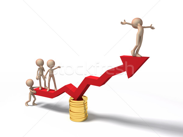 graph of success in business Stock photo © mike_kiev