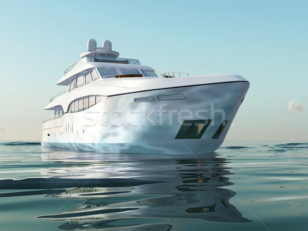 Stock photo: luxury yacht on water