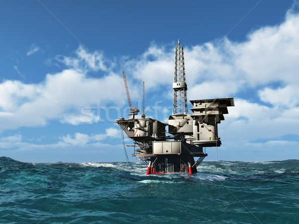 Sea Oil Rig Drilling Platform  Stock photo © mike_kiev